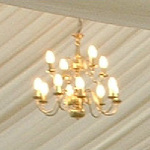 Marquee chandeliers and festoon lighting for sale