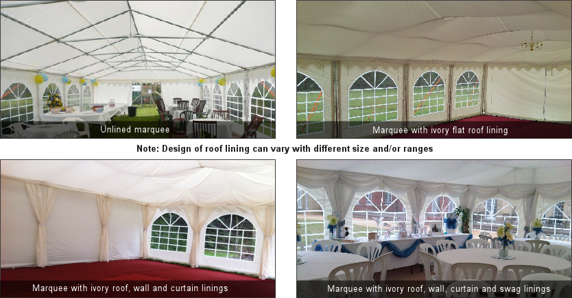 Marquee roof linings for sale