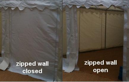 2m premier marquee zipped wall