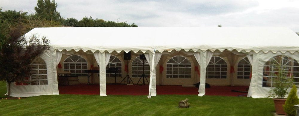 6x12m marquee for sale with red carpet flooring
