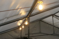 Retro festoon lighting for marquees
